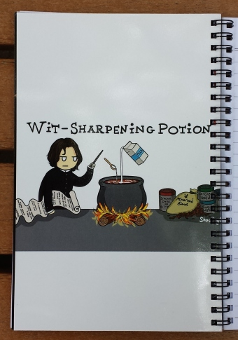 snape notebook coffee inside cover