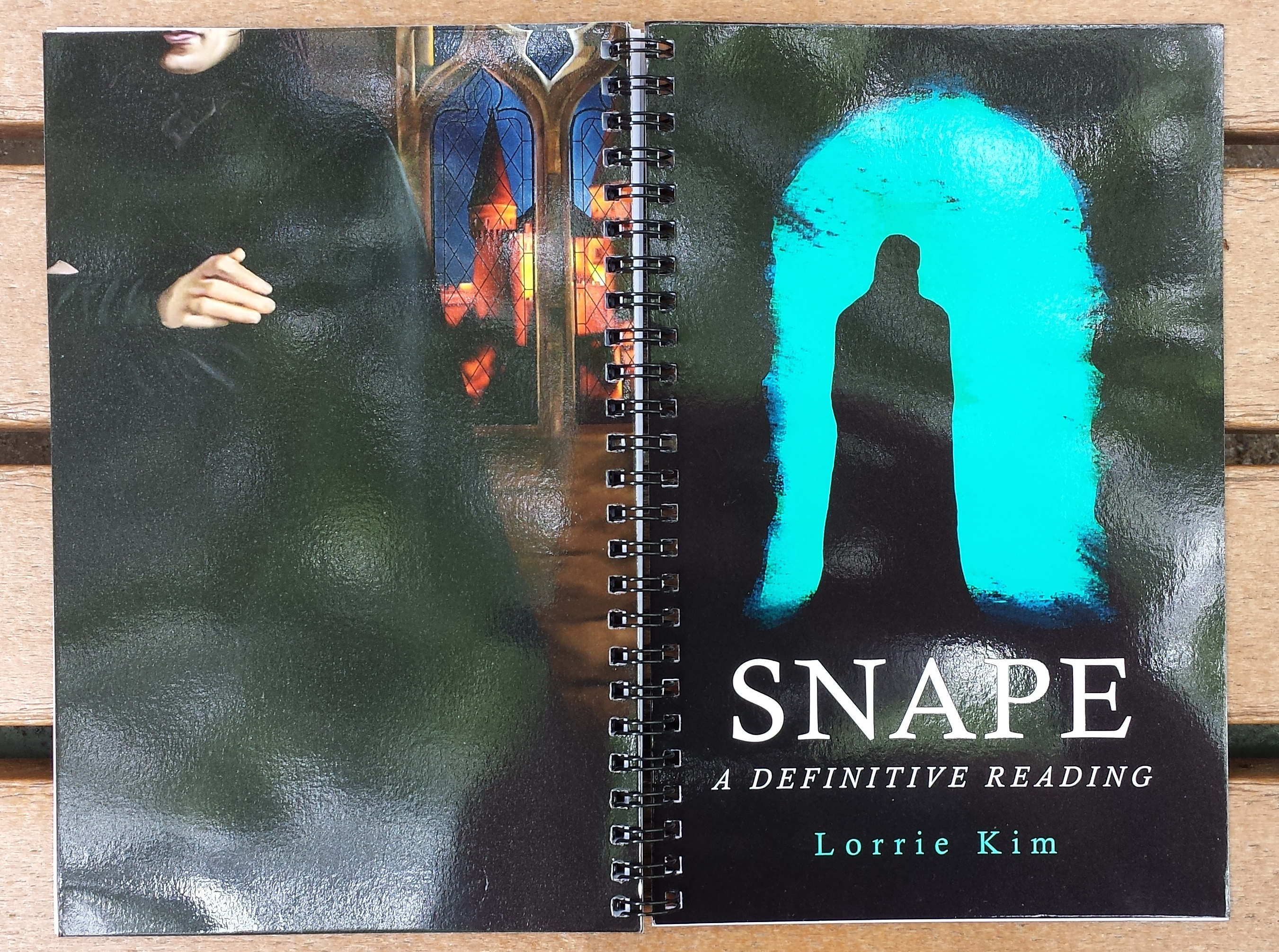 snape notebook front and back