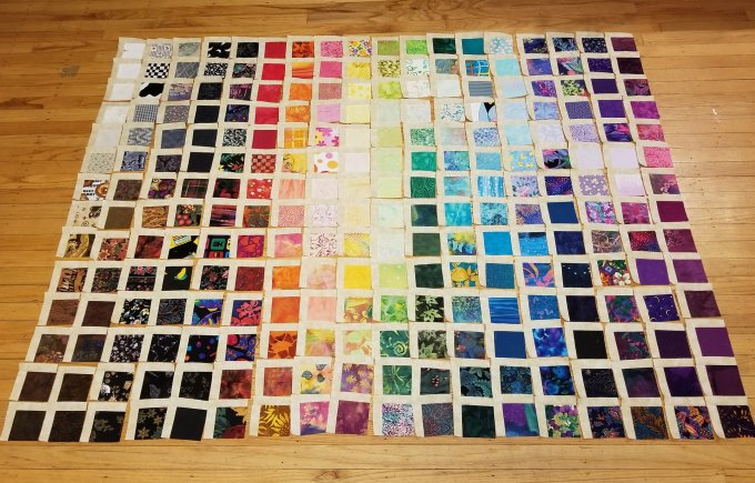 button box quilt top